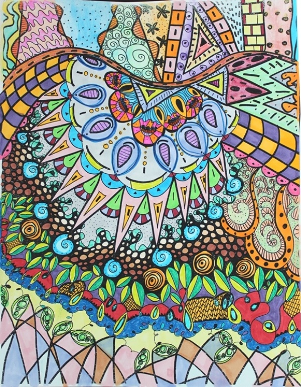 boho birds coloring pages image