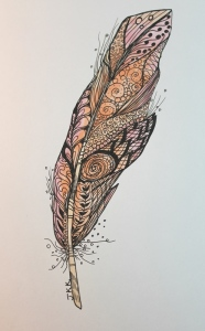 No. 58 - Zentangled Bird Feather