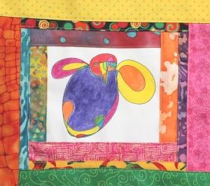 Sewn bird top for QA Apr 2015 challenge