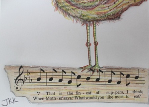 song notes close-up