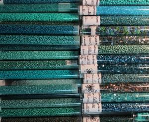 Teal beads
