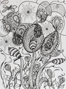 Black pen Doodle - progress