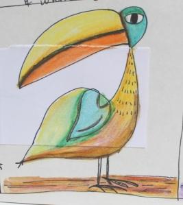 confetti bird