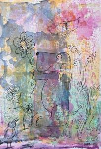 Doodle on gelli-print