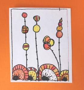 Doodle on Orange background