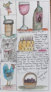 drawings from journal page - remembering mom
