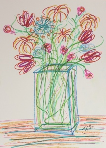 flowers with markers
