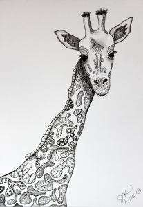 giraffe seeing patterns