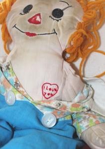 Love heart on doll