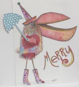 Merry with umbrella