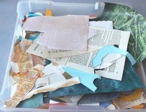 pile of scrap paper