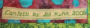 Signature on quilt