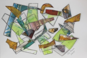 abstract with paper scraps - 2