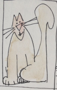 cat in art journal