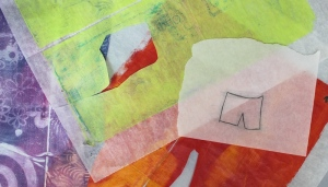 Gelli-print patterns on Deli paper