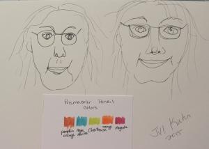 self portrait sketches