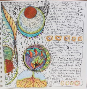 Doodles in art journal June 3rd