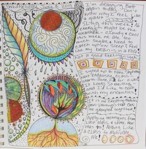 Doodles in art journal June 3rd