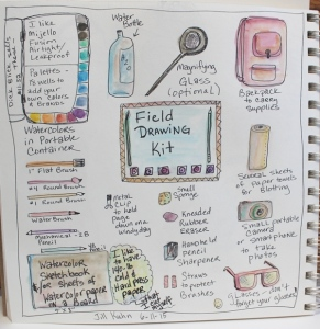 Field Drawing Kit sketch