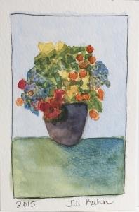 flower pot of flowers