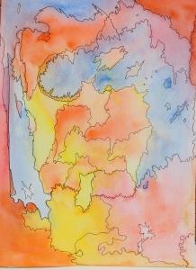 watercolor cloud - a dragon