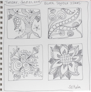 1 - Doodle sketches for block