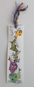 2 sided fish bookmarker