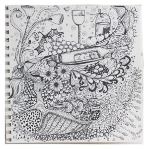 Doodle for wine blog