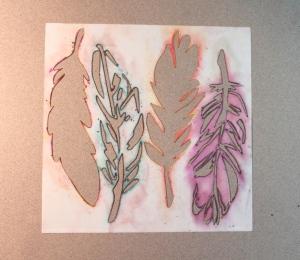 feather stencils