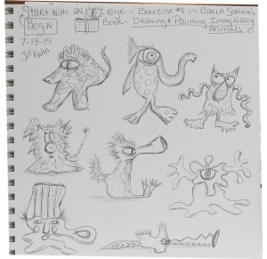 Imaginary animal doodles