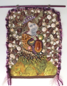 Ms. C - beaded wall hanging