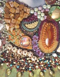 Ms C close-up of beadwork