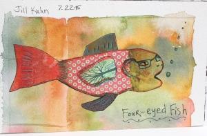 My 4-eye fish collage