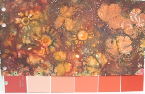 orange nature print