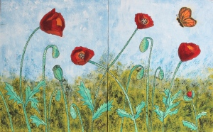 Poppies in acrylic - Lesson 5