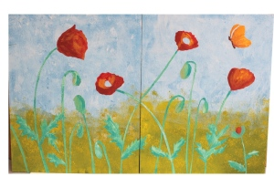 Poppies painted and mask removed - 4