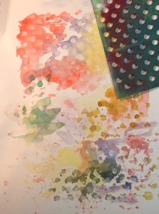 stencil watercolor background 1