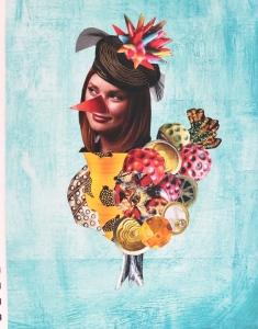 Strange bird mag collage