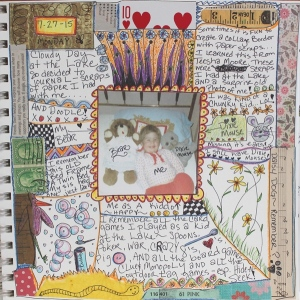 art journal of me as a kid with dixie mouse
