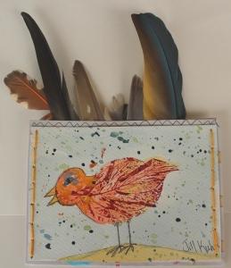 bird feathers envelope