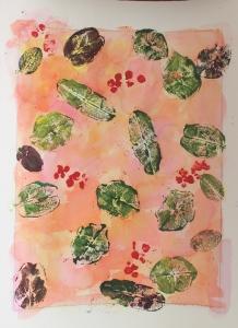 honeysuckle leaf painting
