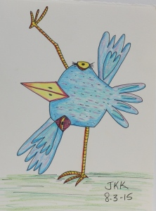 picasso bird in yoga pose