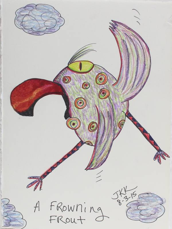 This is a graphic of Enterprising Picasso Bird Drawing