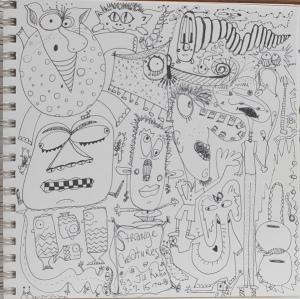 Strange creatures in journal B&W
