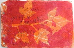 Thimble berry leaves print