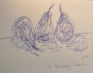 3 Scribbly pears