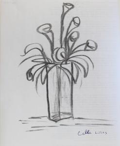 Charcoal - calla lilies
