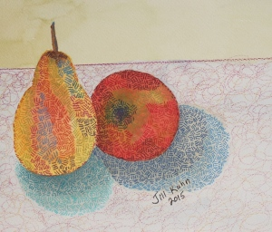 completed pear and apple