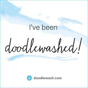 Doodle wash logo as photo