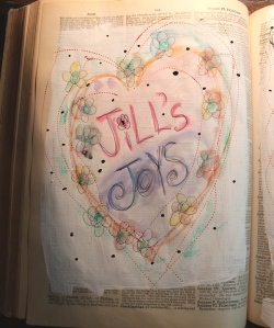 Jill's Joys - painting in book